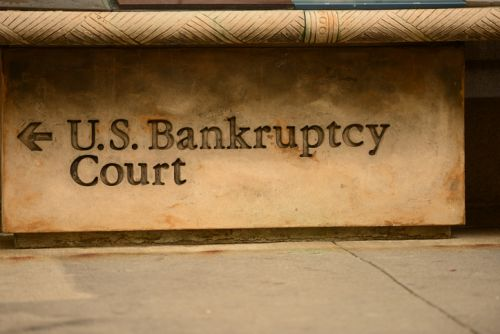 U.S. Bankruptcy Court sign