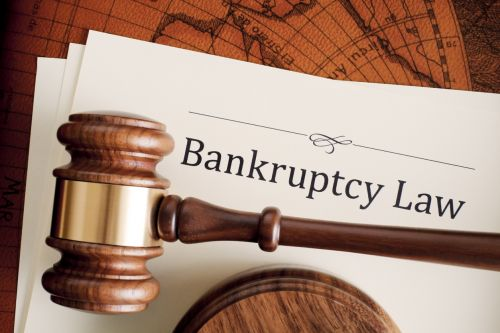 Gavel and bankruptcy law documents.