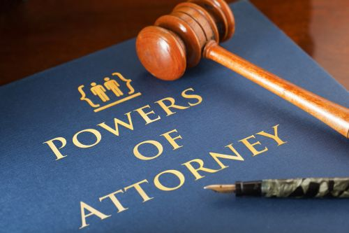 Powers of Attorney Folder and Gavel