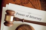Power of Attorney document and gavel